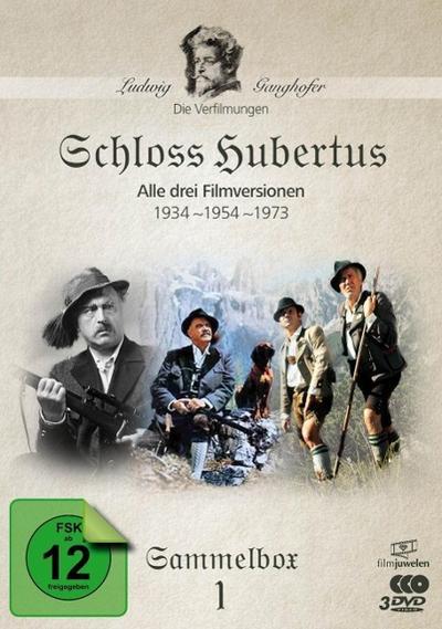 Schloss Hubertus (1934, 1954, 1973) - Die Ganghofer Verfilmungen - Sammelbox 1 DVD-Box