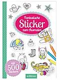 Fantastische Sticker zum Ausmalen
