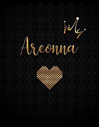 Areonna: Personalized Lined Journal with Inspirational Quotes