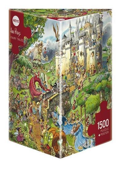 Heye 29414 - Dreieckspuzzles 1500 Teile Fairy Tales, Hugo Prades
