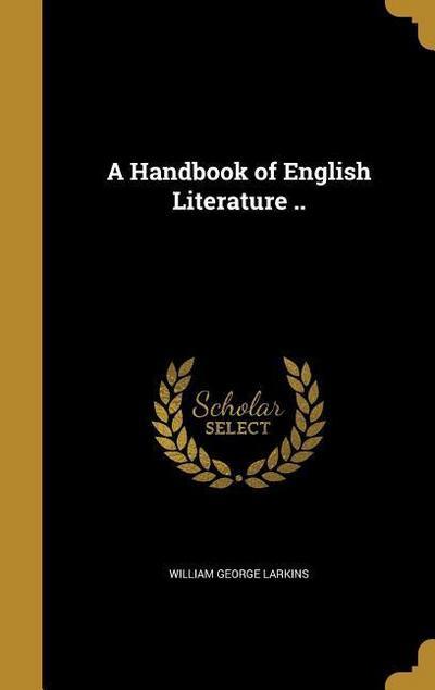 HANDBK OF ENGLISH LITERATURE