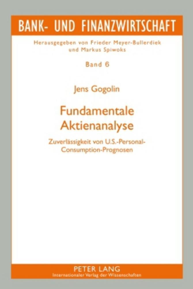 Fundamentale Aktienanalyse ~ Jens Gogolin ~  9783631595794