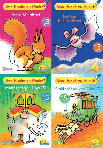 Pixi kreativ Serie Nr. 21: 4er Bundle: Von Punkt zu Punkt