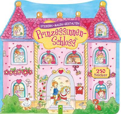 Pinzessinnen-Schloss - Stickern, Malen, Gestalten