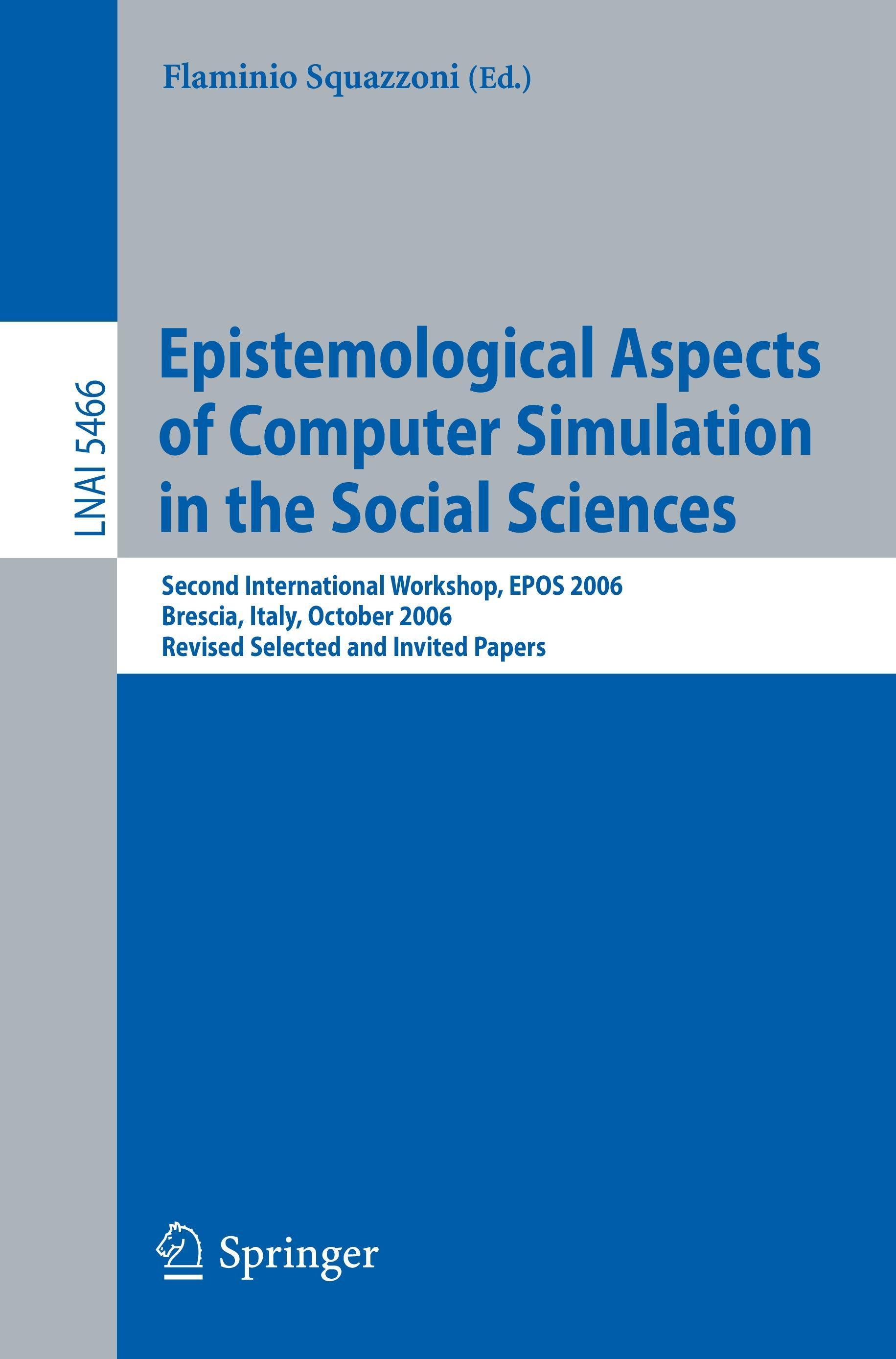 Flaminio Squazzoni / Epistemological Aspects of Computer Sim ... 9783642011085
