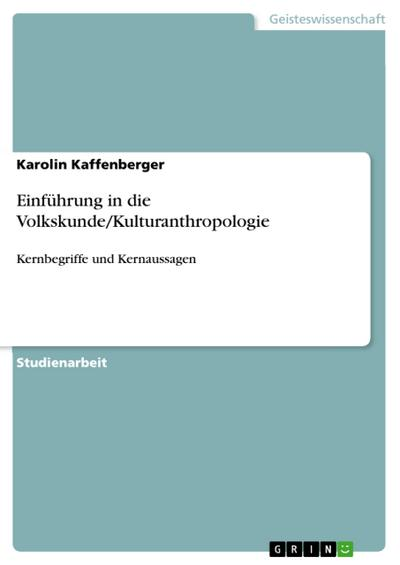 Einführung in die Volkskunde/Kulturanthropologie