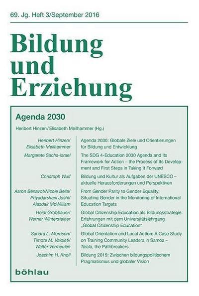 Agenda 2030 - Pädagogische und Entwicklungspolitische Positionen und Diskussionen