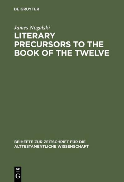 Literary Precursors to the Book of the Twelve
