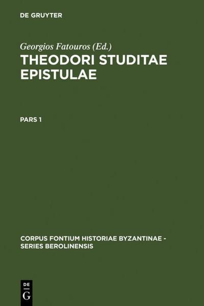 Theodori Studitae Epistulae