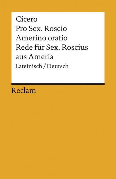 Rede für Sextus Roscius aus Ameria