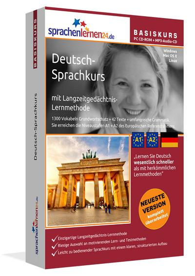 Sprachenlernen24.de Deutsch-Basis-Sprachkurs: Lernsoftware auf CD-ROM für Windows/Linux/Mac OS X + Audio-Vokabeltrainer auf CD für Ihren Computer / MP3-Player / MP3-fähigen CD-Player - Sprachenlernen24 - CD-ROM, Deutsch| Englisch, Udo Gollub, Deutsch-Sprachkurs mit Langzeitgedächtnis-Lernmethode. Niveau A1/A2, Deutsch-Sprachkurs mit Langzeitgedächtnis-Lernmethode. Niveau A1/A2
