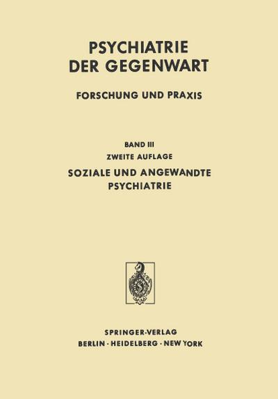 Soziale und Angewandte Psychiatrie