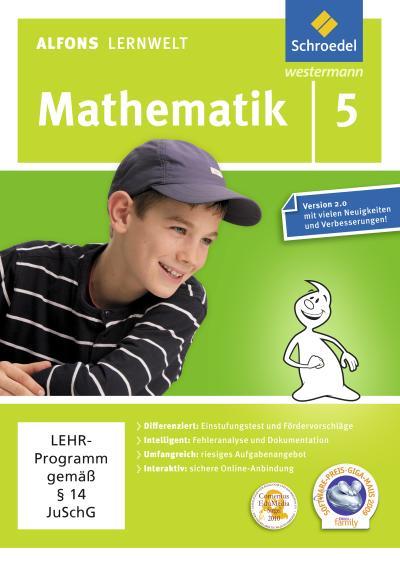 Alfons Lernwelt Lernsoftware Mathematik 5. CD-ROM