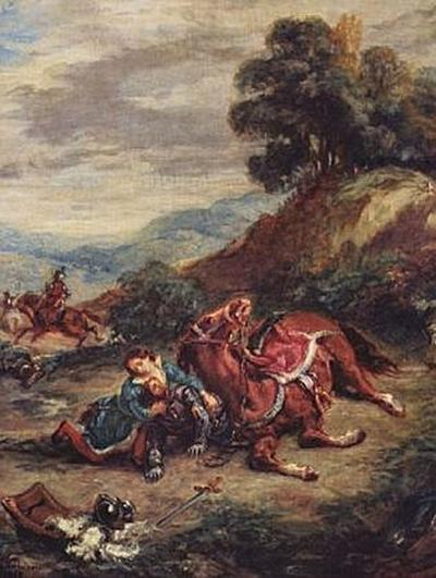 Eugène Ferdinand Victor Delacroix - Der Tod Laras - 200 Teile (Puzzle)