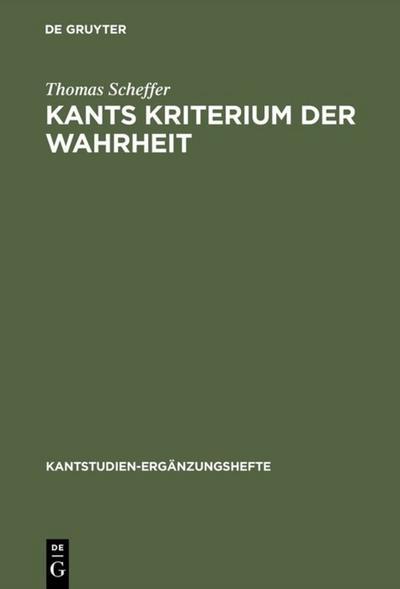Kants Kriterium der Wahrheit
