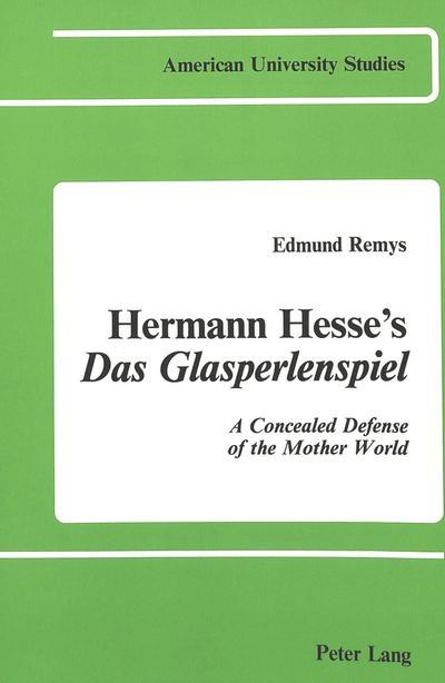Hermann Hesse's 'Das Glasperlenspiel