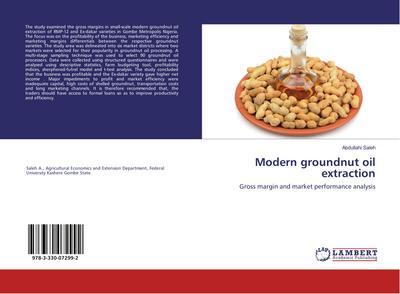 Modern groundnut oil extraction