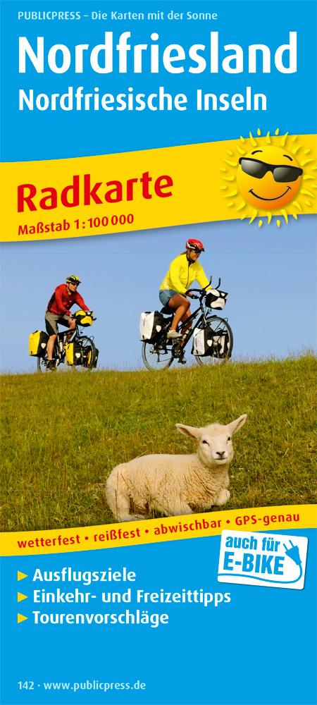 Radwanderkarte Nordfriesland und Nordfriesische Inseln 1 : 100 000,