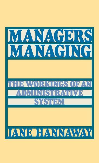 Managers Managing