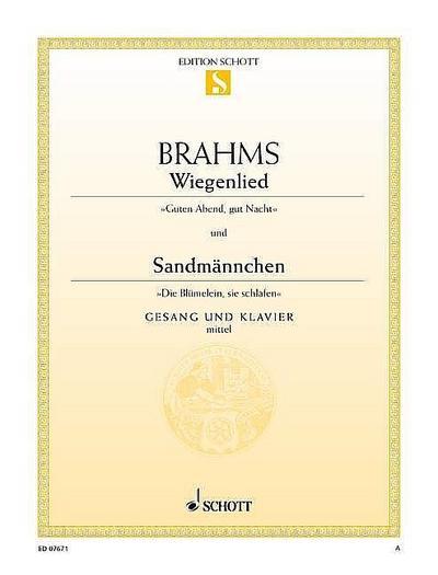 Wiegenlied / Sandmännchen: F-Dur. mittlere Singstimme und Klavier. (Edition Schott Einzelausgabe)