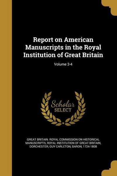 REPORT ON AMER MANUSCRIPTS IN