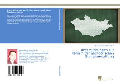 Untersuchungen zur Reform der mongolischen Staatsverwaltung