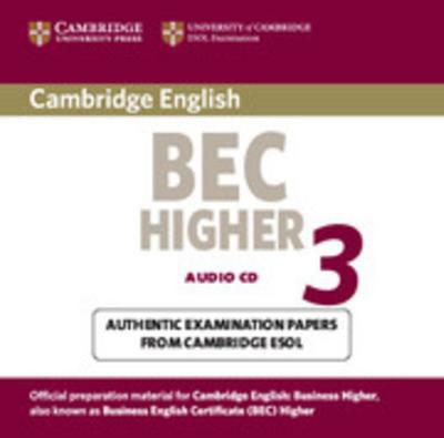 Cambridge BEC Higher 3: Audio CD - Klett Sprachen - Audio CD, Englisch, , Audio CD, Lesung, Audio CD, Lesung