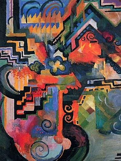 August Macke - Farbige Komposition (Hommage à Johann Sebastin Bach) - 200 Teile (Puzzle)
