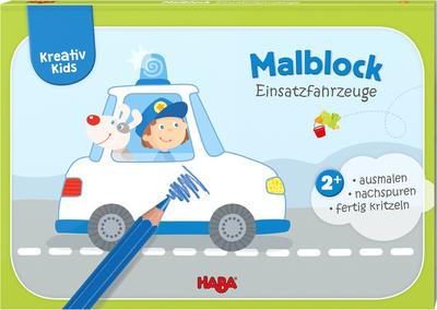 Kreativ Kids - Malblock Einsatzfahrzeuge
