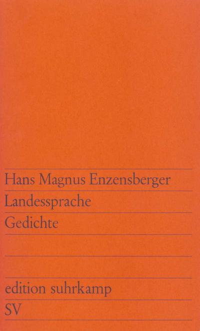 Landessprache: Gedichte (edition suhrkamp 304)
