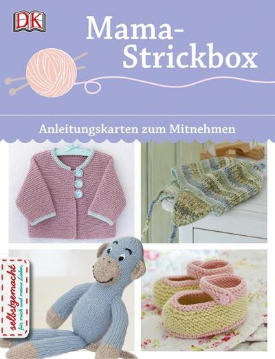 Mama-Strickbox; Anleitungskarten zum Mitnehmen; Deutsch; Über 150 Farbfotografien