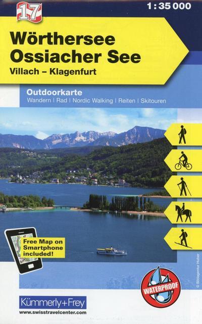 KuF Österreich Outdoorkarte 17 Wörthersee 1 : 35 000