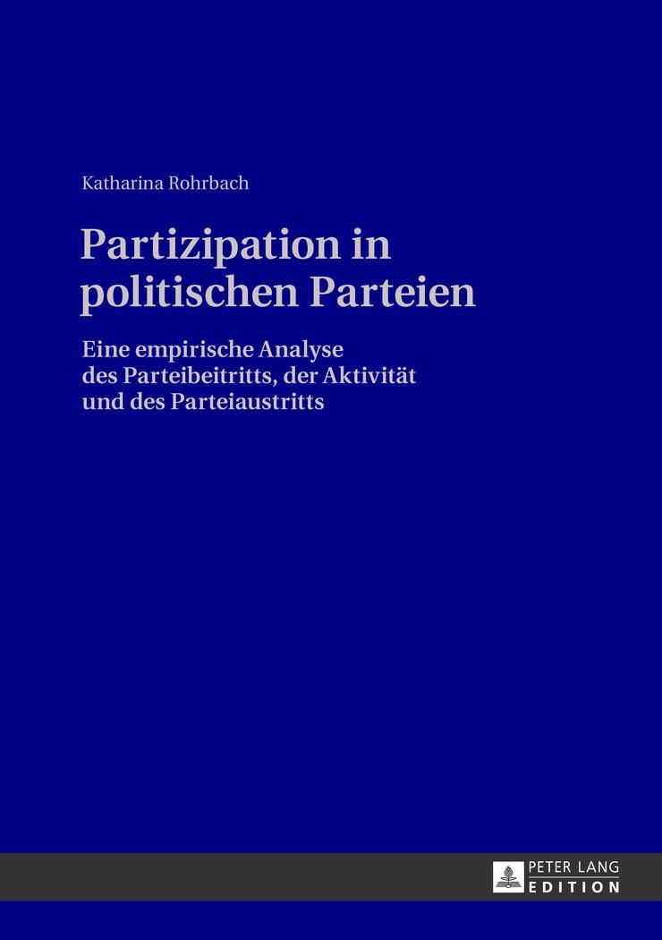 Partizipation in politischen Parteien, Katharina Rohrbach