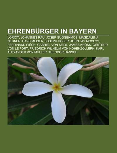 Ehrenbürger in Bayern