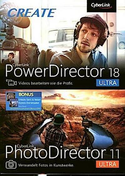 CyberLink PowerDirector 18 Ultra & PhotoDirector 11 Ultra Duo, 1 DVD-ROM