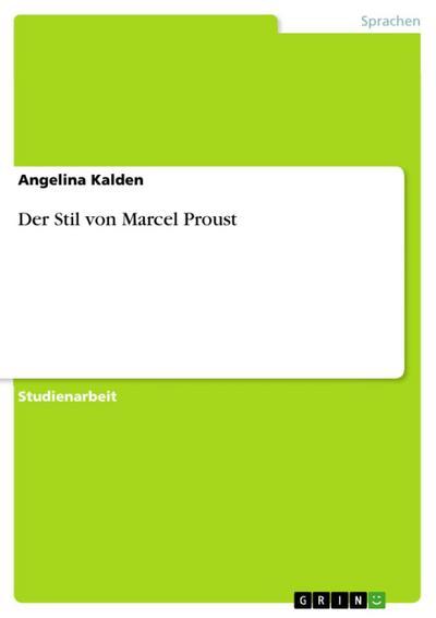 Der Stil von Marcel Proust