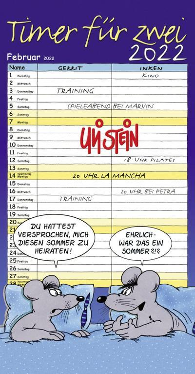 Uli Stein - Timer für zwei 2022: Monatskalender für die Wand