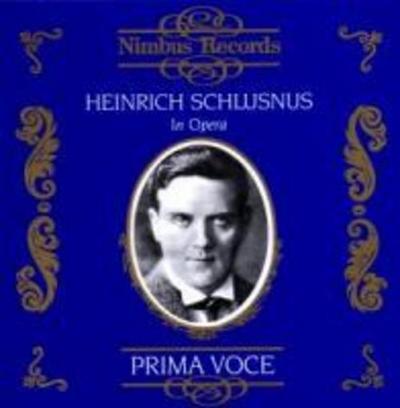 Schlusnus In Opera
