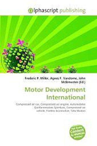 Motor Development International - Frederic P. Miller -  9786130831707