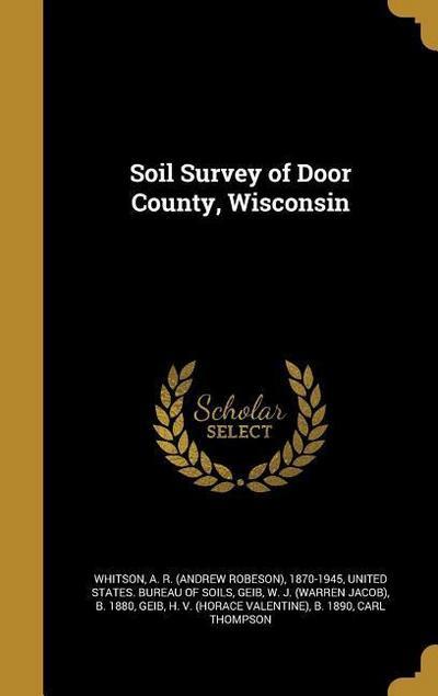 SOIL SURVEY OF DOOR COUNTY WIS