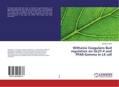 Withania Coagulans Bud regulation on GLUT-4 and PPAR-Gamma in L6 cell