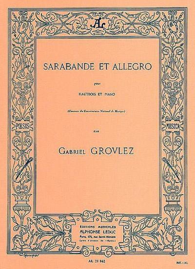 Sarabande et allegro :pour hautbois et piano