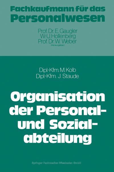 Die Organisation der Personal- und Sozialabteilung