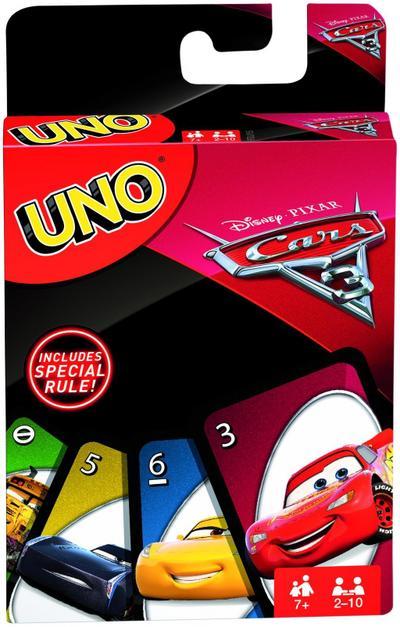 Mattel Games FDJ15 UNO Cars 3 Kartenspiel für Kinder, geeignet für 2 - 10 Spieler, Spieldauer ca. 15 Minuten, ab 7 Jahren - Mattel Gmbh - Spielzeug, Deutsch, , ,
