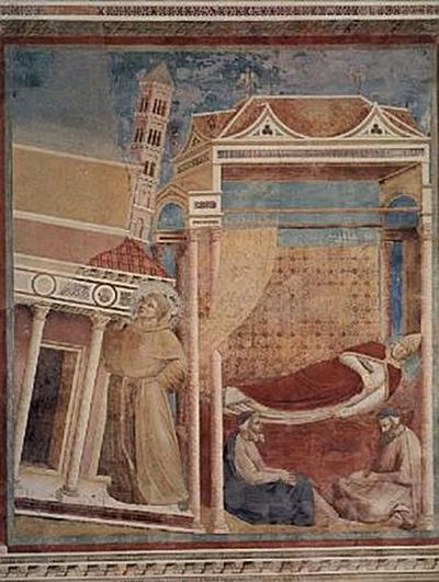 Giotto di Bondone (und Werkstatt) - Hl. Franziskus von Assisi, Der Traum des Innozenz III. - 200 Teile (Puzzle)