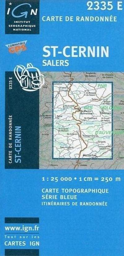 St-Cernin Salers 1 : 25 000