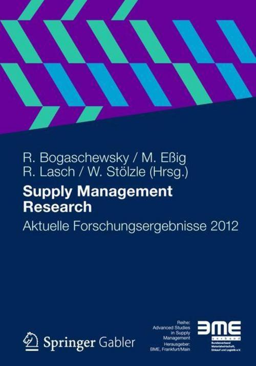 Supply Management Research - Ronald Bogaschewsky -  9783834939272