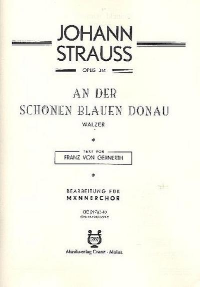 An der schönen blauen Donau, Männerchor (TTBB) und Klavier, Klavierpartitur