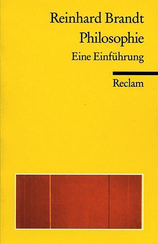 Reinhard Brandt ~ Philosophie 9783150181379