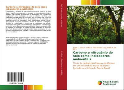 Carbono e nitrogênio do solo como indicadores ambientais